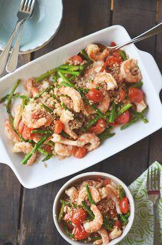 Asparagus & Shrimp Stir Fry