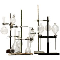 Collection (or Singles) of Glass Beakers on Stands ca. 1890 | From a unique collection of antique and modern scientific instruments at http://www.1stdibs.com/furniture/more-furniture-collectibles/scientific-instruments/