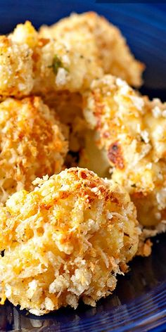 Baked Garlic Parmesan Cauliflower Bites ~ Crunchy and crispy on the outside, moist and tender inside... Serve with your choice of sauces.