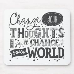 Change Your Thoughts Hand Lettering Quote Panel Wall Art - typography gifts unique custom diy Brush Lettering Quotes, Hand Lettering Quotes, Calligraphy Quotes, Creative Lettering, Typography Quotes, Lettering Design, Calligraphy Handwriting, Modern Typography, Vintage Typography
