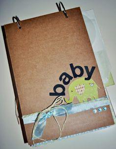 Cute baby brag book tute by Erin at DCWV Brag Book, Album Book, Baby Scrapbook, Kids Corner, Mini Books, Baby Cards, Craft Gifts, Mini Albums, Christmas Diy