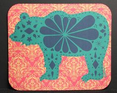 Bear Picado  Mouse Pad by jonesingforhiphop on Etsy