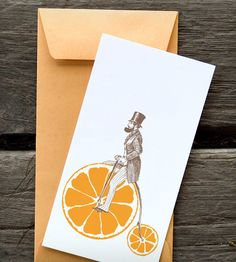 Orange Velocipede Notecards - Set of 8 | Gifts Cards & Stationery | Rigel Stuhmiller | Scoutmob Shoppe | Product Detail
