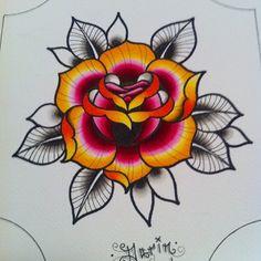 Orange and Pink Flash Rose