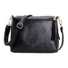 Brand designer women bag soft leather fringe crossbody bag shoulder women messenger bags candy color A866