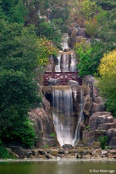 Huntington Falls at Stow Lake, Golden Gate Park, San Francisco.