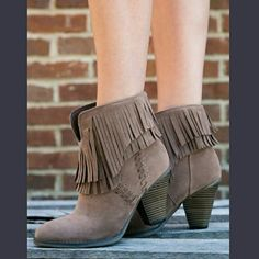 👢TAUPE SUEDE BOOTS👢-📦NIB📦 👢Suede Boots with Indian inspired outside 👢Fringe all around the boots 👢Comfy footbed and heel 👢True to size 👢Color is taupe😃💖🙌👢👢👢💗💃🎉😘❤✌ BOTIQUE  Shoes Ankle Boots & Booties