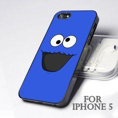 10085 Elmo Face Blue Color - Design for Iphone 5 case