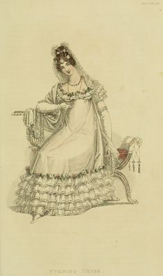 Fashion Plate Friday – Regency Evening Dresses | Byron's muse