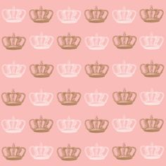 Pink and Brown Crown design 12x12 inch for scrapbooking and paper crafting