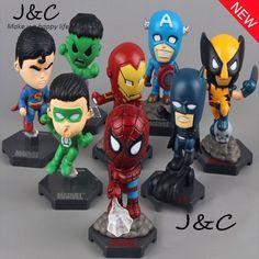 The Avengers Marvel Superheroes Captain American Hulk X-men x man Spiderman Action Figure Toys gift Dolls PVC 8pcs/lot //Price: $US $11.43 & FREE Shipping //     #toyz24