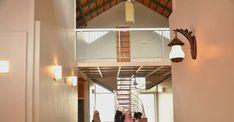 vajid-unique-house-stair Prefabricated Houses, House Stairs, Eco Friendly House, House Built, House Plans, Brick, Ceiling Lights, Building, Unique