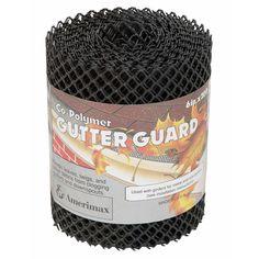Amerimax Gutter Guard 6 X 20 Plastic Blk For More