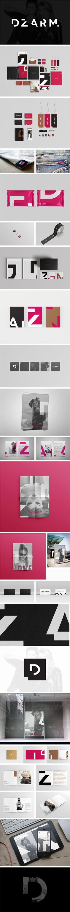 DZARM. – REBRANDING: Corporate Identity design system, Branding | Design by Diego Bellorin with Estúdio Colírio.