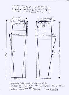 Patrón de pantalones ajustados - Patrones gratis - Tesettür Tunik Modelleri 2020 - Tesettür Modelleri ve Modası 2019 ve 2020 Dress Sewing Patterns, Sewing Patterns Free, Sewing Tutorials, Clothing Patterns, Sewing Pants, Sewing Clothes, Diy Clothes, Jumpsuit Pattern, Pants Pattern