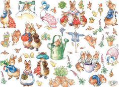 Peter the Rabbit #illustrations by Beatrix #Potter. #Easter #bunnies