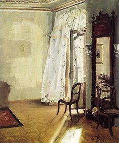 Adolph von Menzel The French Window 1845 - Google Search