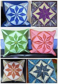 Лоскутная геометрия: Подушки-оригами