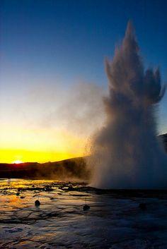 Strokkur geysir, Iceland by Ole Kristian Hermansen, via Flickr