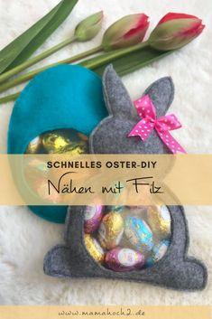Fast DIY for Easter. Gift packaging for DIY and handicrafts with children. Gift idea for Easter. sew einfach clothes crafts for beginners ideas projects room Wall Hanging Christmas Tree, Dress Form Christmas Tree, Ribbon On Christmas Tree, Christmas Tree Design, Christmas Crafts For Kids, Felt Christmas, Christmas Tree Ornaments, Polymer Clay Ornaments, Easter Gift Baskets