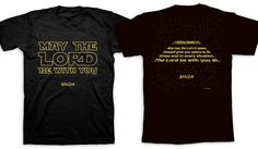 May the Lord Be With You Star Wars Black Christian Church Kerusso Men's T-Shirt #Kerusso #GraphicTee