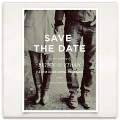 Vintage themed save the date, minted.com