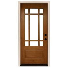 Steves & Sons 36 in. x 80 in. Craftsman 9 Lite Stained Knotty Alder Wood Prehung Front Door-A3109-6-AW-WJ-4ILH - The Home Depot