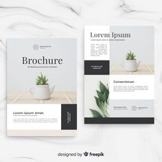 Explore more than ready to use brochure design templates for pamphlets, proposals, reports, and manuals in a variety of styles. Graphic Design Brochure, Brochure Layout, Graphic Design Templates, Graphic Design Posters, Spa Brochure, Creative Poster Design, Book Design Layout, Wall Design, Newsletter Design
