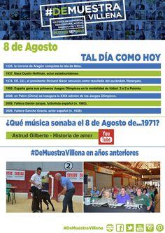 TAL DÍA COMO HOY. 8 de Agosto. #DeMuestraVillena  www.muestravillena.villena.es www.facebook.com/Muestravillena @muestravillena