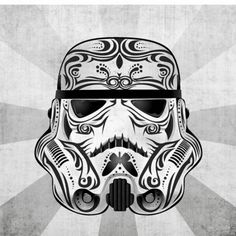 Star Wars Day of the Dead Sugar Skulls - Storm Trooper