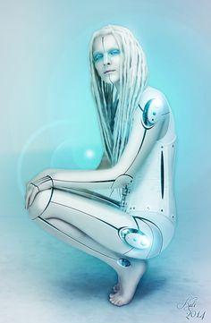 Cyborg Girl by MademoiselleKati............ Digital Art / Photomanipulation / Sci-Fi
