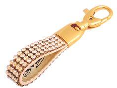 Golden Color Crystal Key Ring