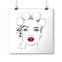 Fashion Illustration Fashion Poster Beauty by worksbyannahammer