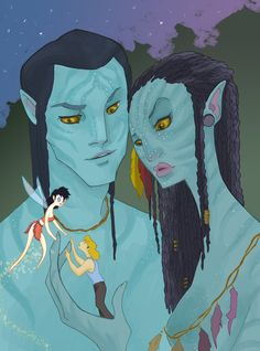 """Avatar Meets Fern Gully (spicysteweddemon) - actually when I saw Avatar I was like, """"Oh it's 'Dances With Wolves' meets 'Pocahontas' meets 'Fern Gully'"""""""