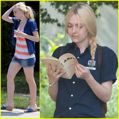 Dakota Fanning reading