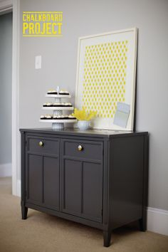 The Pink Chalkboard: Chalkboard Project: How to Paint Furniture