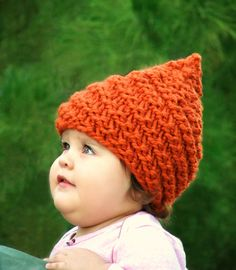 knit head wraps for babies and infants | Infant Elf Hat Baby Gnome Hat Newborn Beanie Hand Knit Baby Hat ...