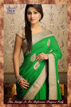 Elegant Green and gold saree - DeesSarees