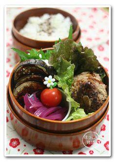 えのきバーグと米なすの味噌田楽弁当|レシピブログ