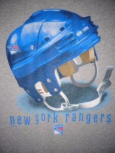 VTG 1990s adult large New York Rangers t-shirt dbl sided NY goalie mask USA made #LeeSport #NewYorkRangers