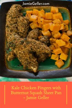 We know how much you all love chicken nuggets and schintzel and we have loads of ways to make them healthier. With this recipe we found a way to get the kale into the coating, it's sort of sneaky but it happens to work really well. #chicken #dinner #squash