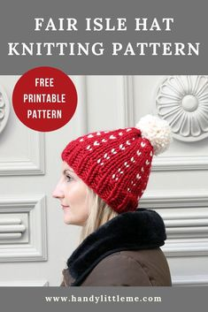 b278da602bd Free fair isle hat knitting pattern - If you love to knit hats then this is