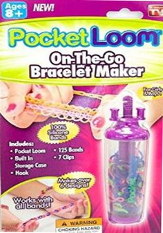 Rainbow Loom Pocket Loom On the Go Bracelet Maker    Cool new tool for the Rainbow Loom fans, every thing you need to make bracelets on the go!