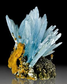 Blue Barite Flowers from Morocco