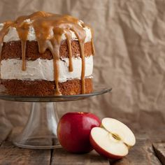 Fresh Apple Cake with Cinnamon Whipped Frosting