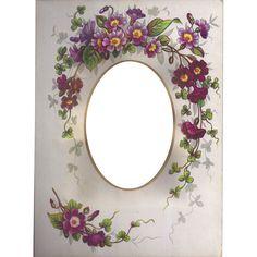 Piękny chromolitografia Floral Strona z wiktoriańskiej album tomjudy na Ruby Lane