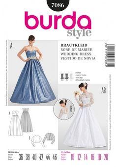 Patron de robe de mariée - Burda 7086