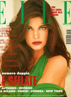 Stephanie Seymour by Marco Glaviano for Elle Italia, August 1992