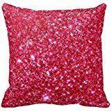 Pink throw pillows are adorable, cute and trendy. Moreover,  they are awesome in a pink home décor theme.   Pink accent pillows symbolize love, femininity and softness.  Therefore, use these in both your bedroom and  living room on beds, couches and chairs.   Trendy Pink throw pillows make any room stylish, charming and beautiful.        Hot Pink Fuchsia Tiny Sequin Glitter Pillow Case