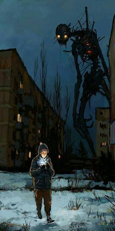 will always fine it's way in the dark! sempre vai ficar bem no escuro! Dark Fantasy Art, Fantasy Artwork, Sci Fi Fantasy, Monster Concept Art, Monster Art, Arte Horror, Horror Art, Fantasy Creatures, Mythical Creatures